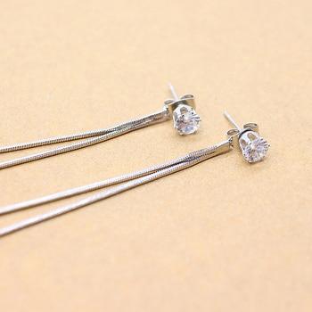 2019 New fashion Dangle Hanging Rhinestone Long Drop Earrings Ear line For Women simple Snake chain Tassel Jewelry brinco bijoux 4