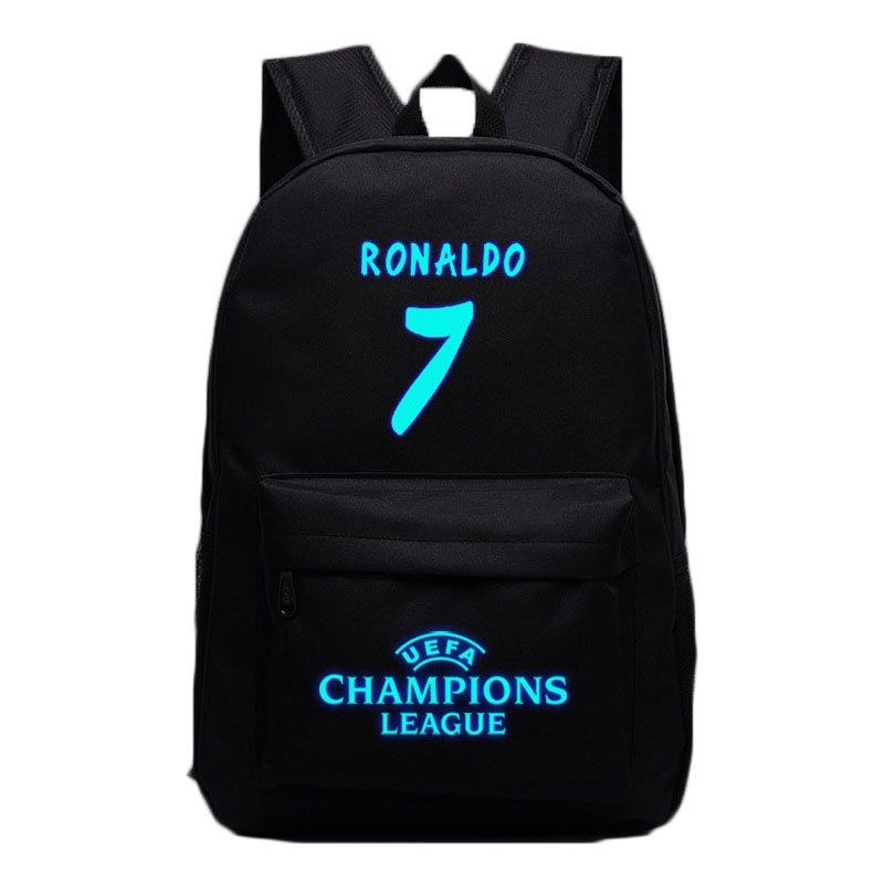 New Fashion School Backpack For Teenagers Boy Girls 7# Ronaldo Backpacks Daily Laptop Backpack Travel Zipper Nylon Bag Kids Gift купить