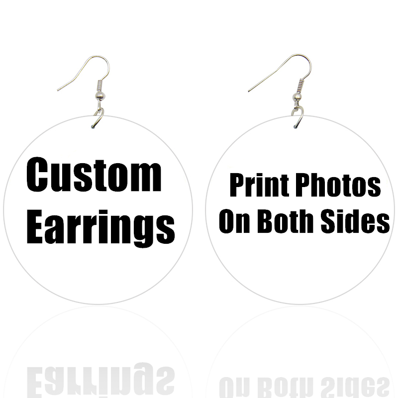 SOMESOOR Both Sides Printing Black Powerful Words African Wooden Drop Earrings Never Give Up Afro Wood Dangle Jewelry For Women
