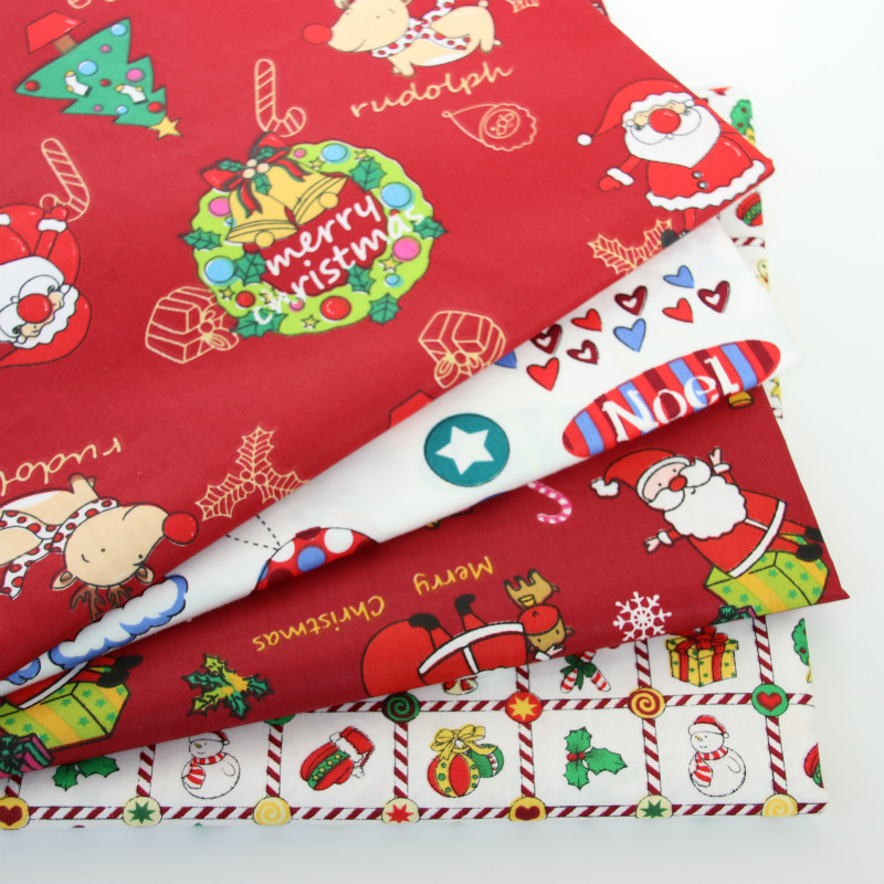 Printed Christmas Baby Cotton Twill Fabric For DIY Bedding Cloth Sewing Patchwork Quilting And Fashion Dress Making Fabrics