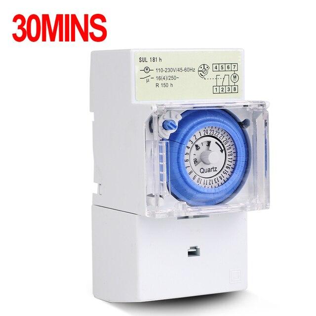 analog 24 hours mechanical timer switch sul181h 220v ac in. Black Bedroom Furniture Sets. Home Design Ideas