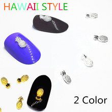ФОТО 30pcs gold/silver pineapple nailart decorations cute hawaii nail accessoires charms ananas pistol summer tropical design 2018