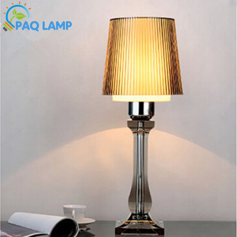 ФОТО Modern table lamp multicolor acrylic light led light acrylic and ABS lamp shade bed room Office LED table lamp
