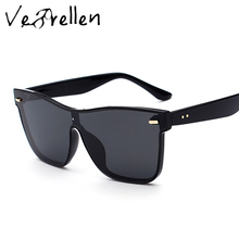 VeBrellen Sunglasses Men Women Luxury Brand Polarized Fashion Sunglasses Square Mirror Sun Glasses Shades Glasses UV400 VJ157