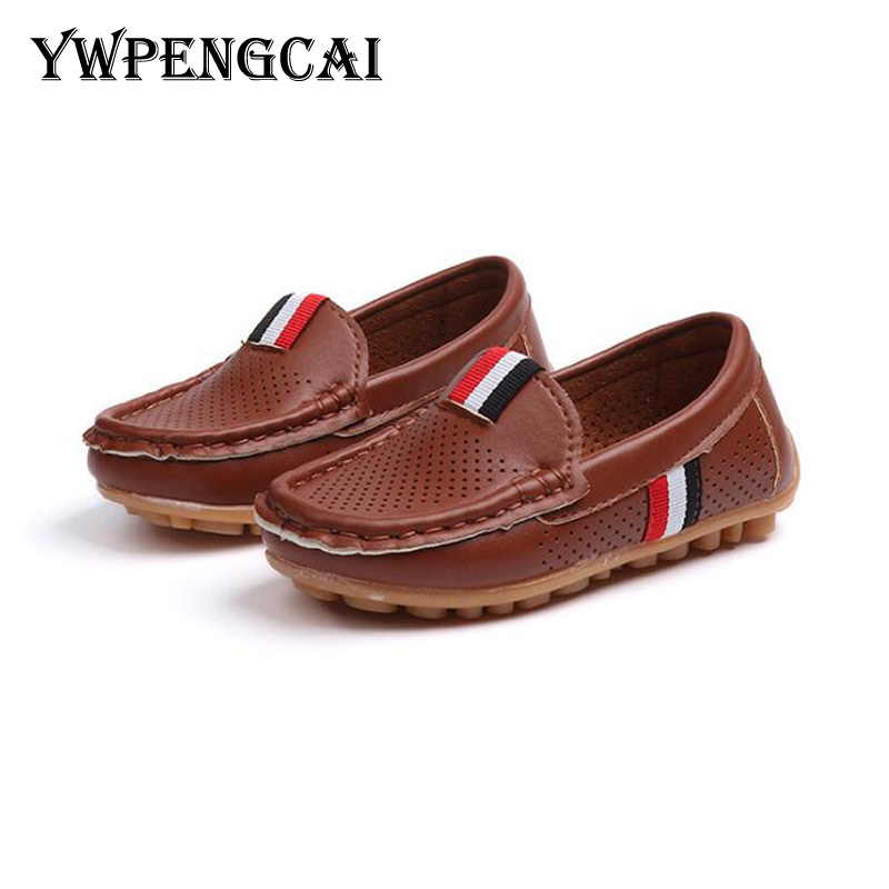 Boys Leather Shoes Casual Slip On Soft Sole Loafers Shoes Sneakers Little Kid//Big Kid