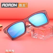 Aoron 2016 Style Polarized Light Sunglasses Fashion Color Film Will Frame Repair Face Sunglasses Men And Women Fashion Glasses Y