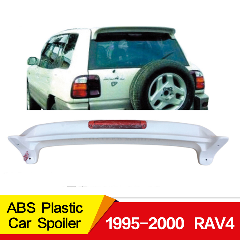 For <font><b>Toyota</b></font> <font><b>RAV4</b></font> spoiler <font><b>1995</b></font>-2000year high quality ABS plastic customize color DIY paint sport Car Rear Wing image
