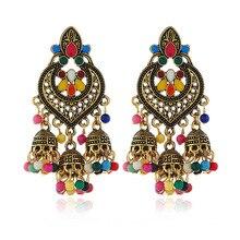 Afghan India Middle East Golden Birdcage Statement Earrings Big Resin Long Tassel Drop Ears Tribal Egypt Nepal Gypsy Jewelry dhanedhar manisha narwade sunil tribal malnutrition in india