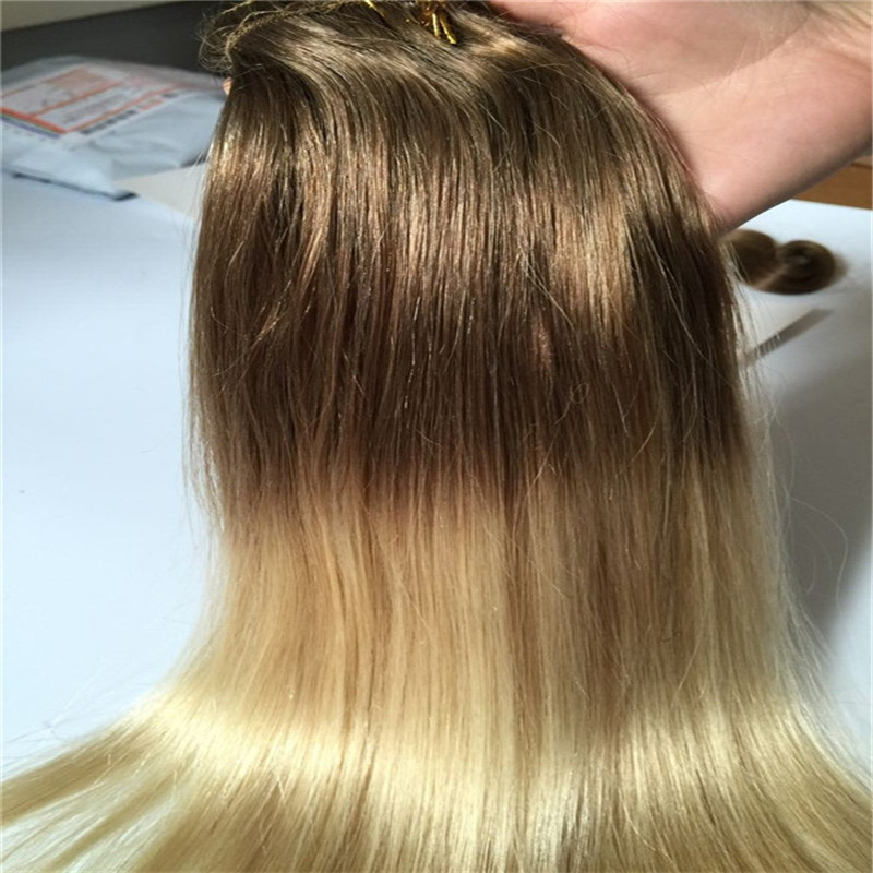 Clip In Human Hair Extensions 8 60 Ombre Silky