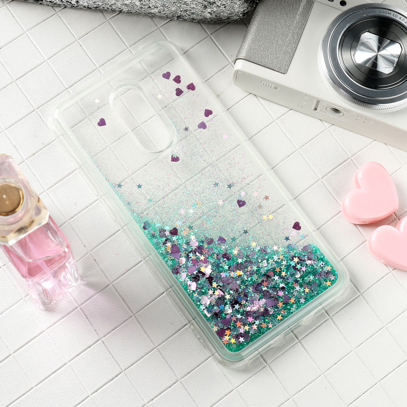Glitter Liquid fundas For Xiaomi Remi 5 Plus 6 Pro 4A 5 5A 6 6A S2 Y2 Case Silicone For Xiaomi Redmi Note 5 6 Pro Prime Cover in Fitted Cases from Cellphones Telecommunications