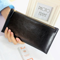 Women Wallets Genuine Leather Purses Ultra-Thin Design Female Candy Color Long Clutch Bags Card Holder Monederos Carteras Mujer