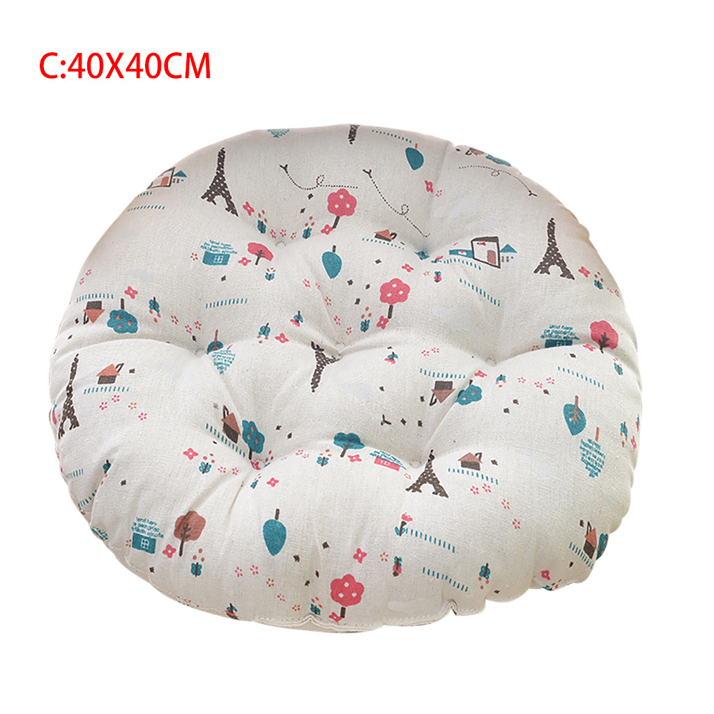 Image 5 - Chair Cushion Round Cotton Upholstery Soft Cushion Padded Office Home Car Seat Cushion decorative cushion chair pads kids-in Cushion from Home & Garden