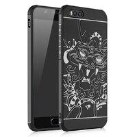 Original For Xiaomi Mi6 Case Silicone Mi 6 M6 Back Cover 3d Carved Coque Matte Soft
