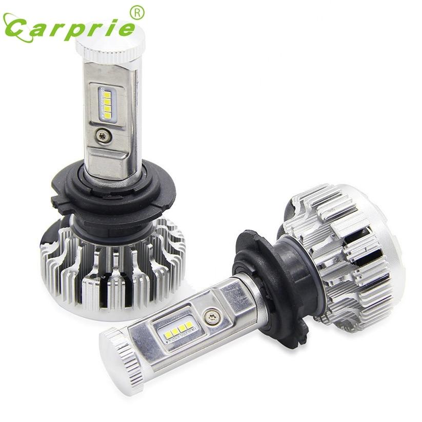 car-styling 120W 12000LM H7 LED Lamp Headlight Kit Car Beam Bulbs 6000k White Canbus fe24 free ship 1 pair car styling headlight bulbs kit csp h7 30w 6000k super white lighting