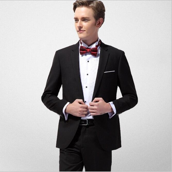 Top Qualität Männer Business Abendessen Anzüge Streifen Slim Fit Hochzeit Boutique Männlichen Bräutigam Smoking Anzug Prom Jacke Hosen Weste 3 Stück