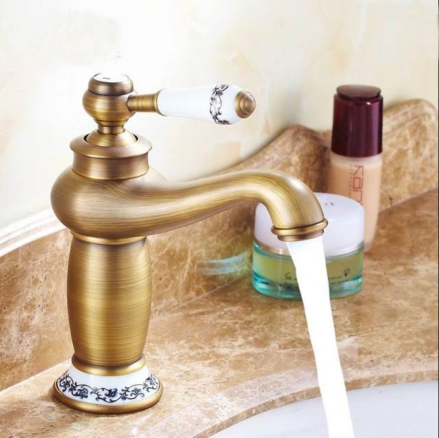 free shipping contemporary bathroom faucet antique bronze finish