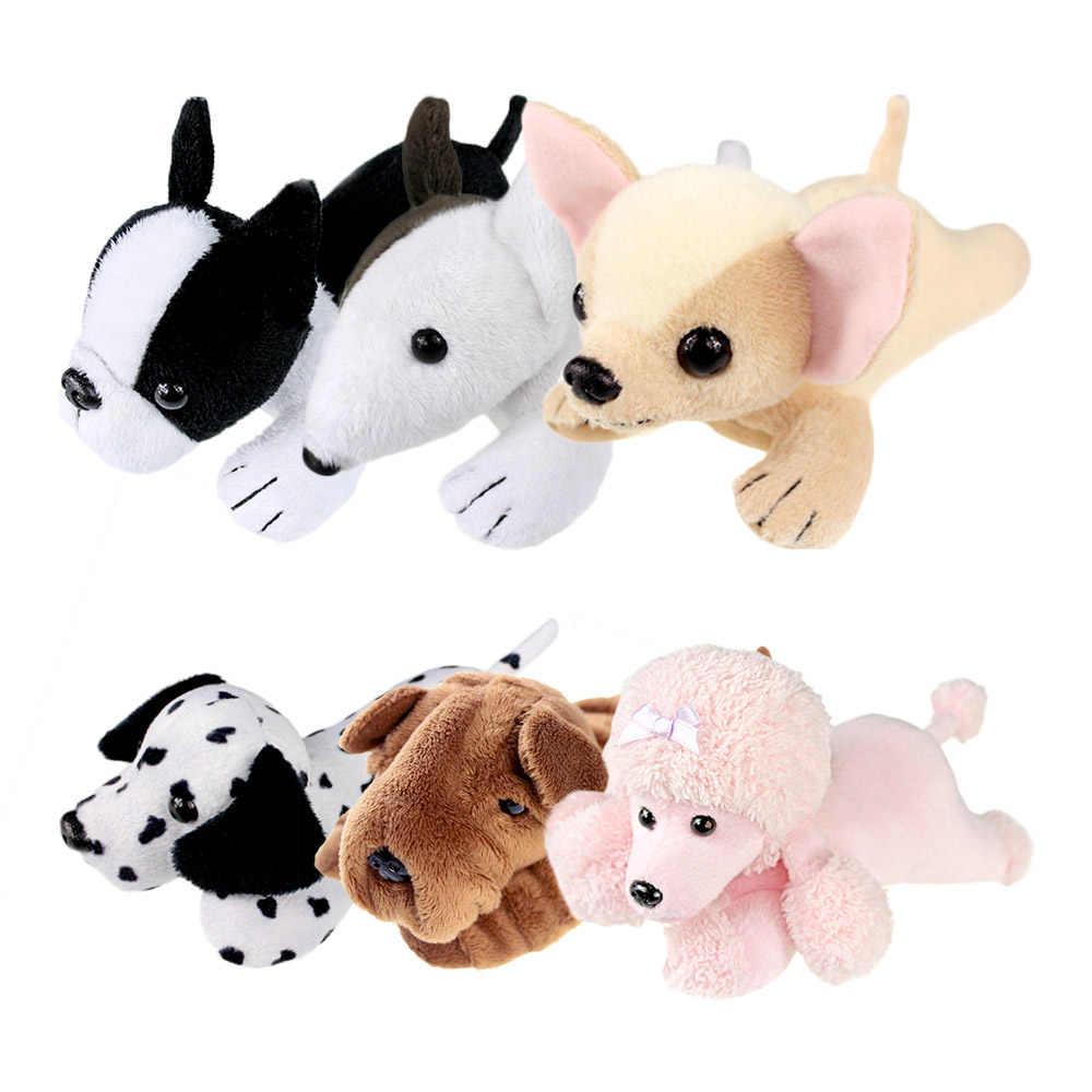 ของเล่นตุ๊กตาสุนัขหัวตุ๊กตาเด็กชายหญิงสัตว์ขนาดเล็ก Poodle Bull Terrier Dalmatian Chihuahua Sharpei บอสตัน Home Decor