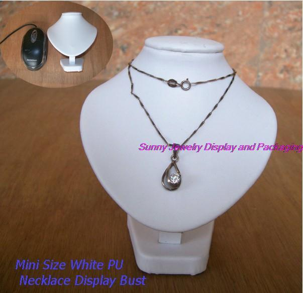 promotional Jewelry display white mini necklace neckform bust torso free shipping white pu necklace display