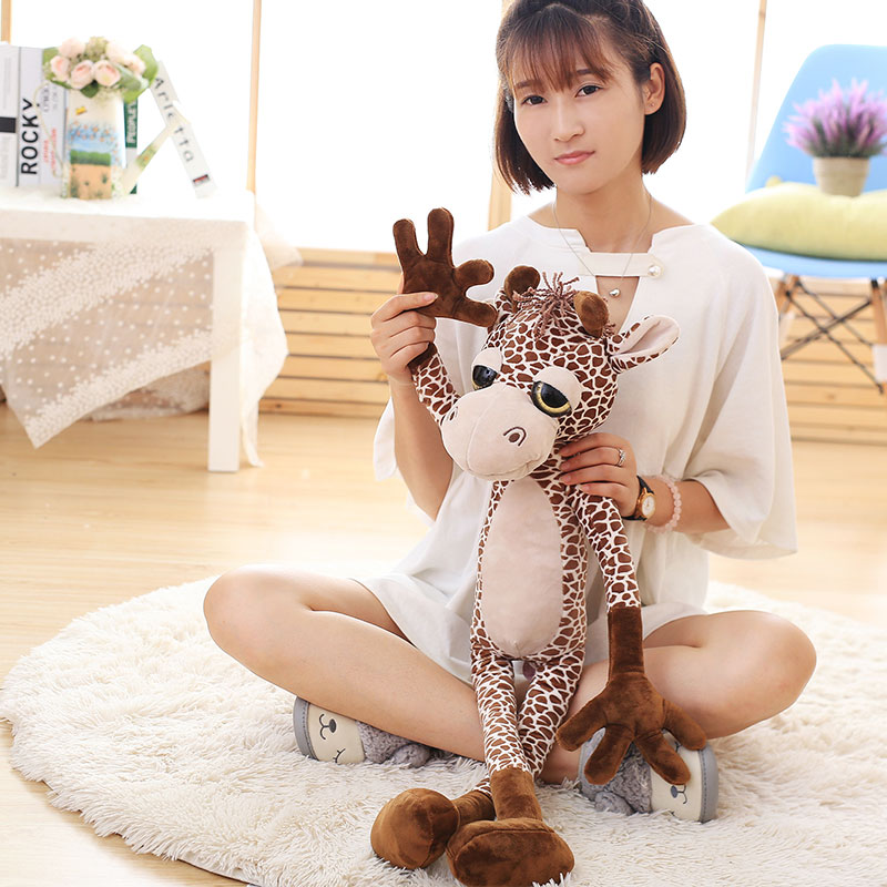 new creative long arms plush giraffe toy big eyes giraffe doll gift about 80cm big plush simulation giraffe toy new creative standing giraffe doll gift about 115cm