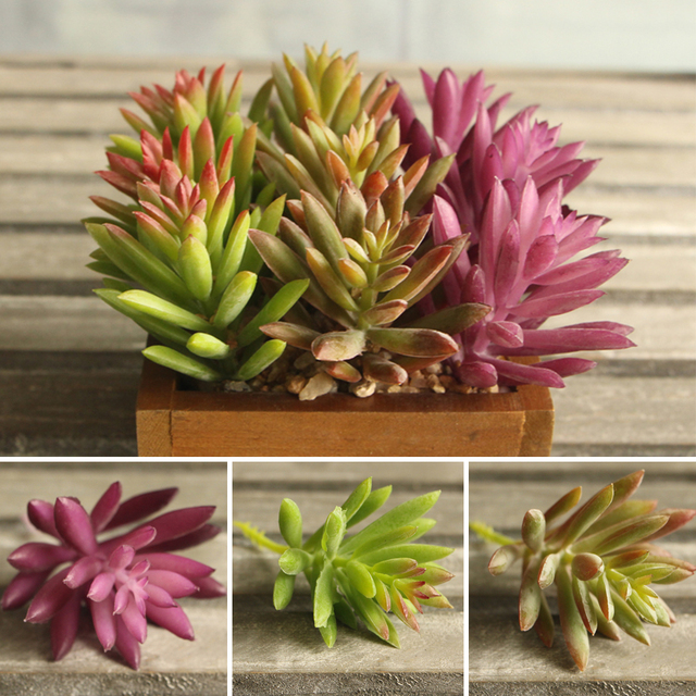 snowflake lotus rare plants garden succulent grass desert artificial Artificial Plants for Office Decor