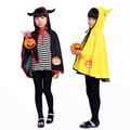 Новый рекламный Хэллоуин Маскарад ролевая маленькие рога дьявола плащ милые мальчики и девочки костюмы Хеллоуин костюм