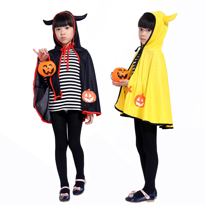 new promotional Halloween Masquerade role-playing little devil horns cloak cute boys and girls costumes Halloween costume