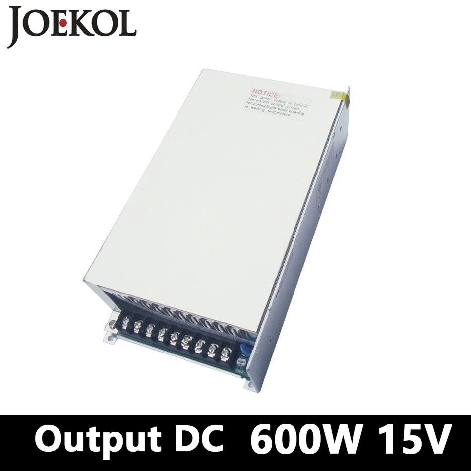 High-power switching power supply 600W 15v 40A,Single Output dc power supply for Led Strip,AC110V/220V Transformer to DC 15V