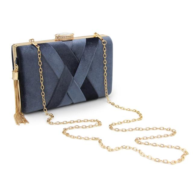 Women Suede Tassel Evening Bags 5