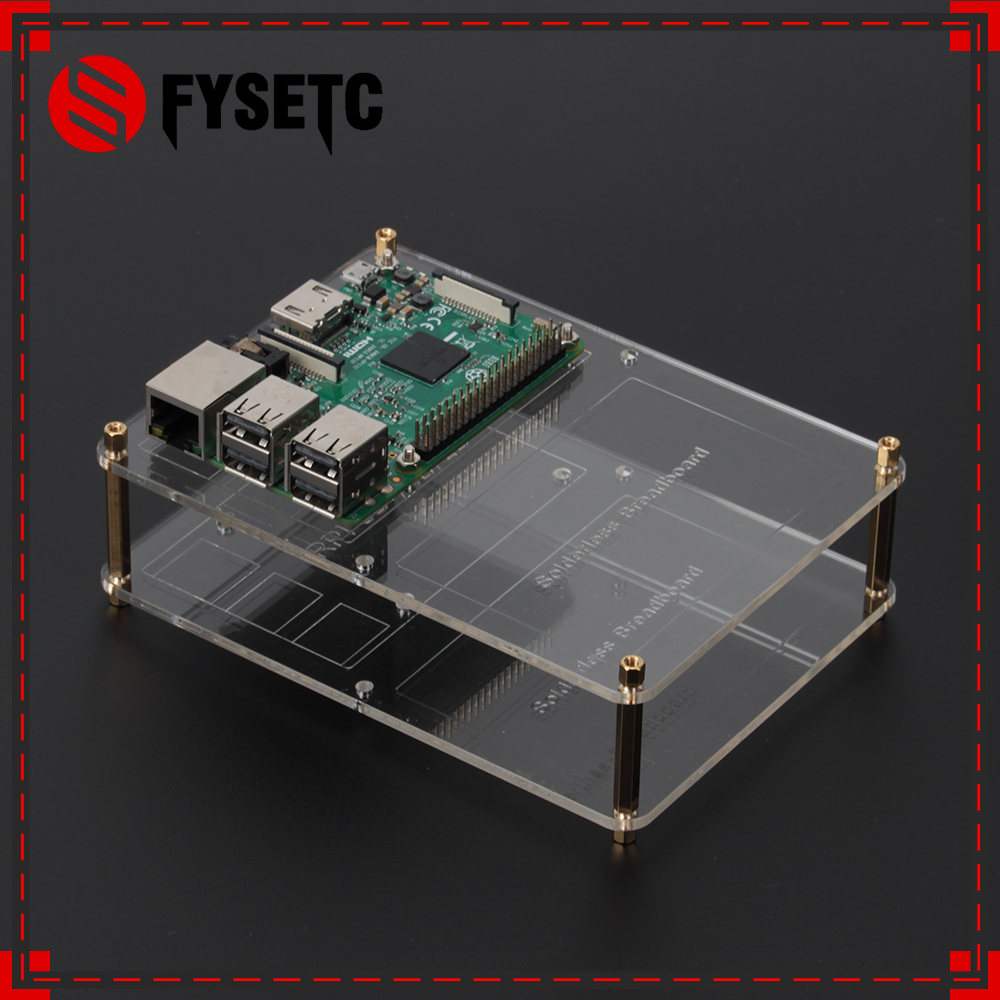 2 Layers Raspberry Pi Acrylic Mounting Plate Case DIY Prototype Breadboard Experiment Expasion Board For Raspberry Pi 3 / 2 / B+