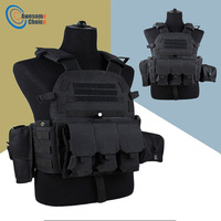 Black Color 600D Nylon Molle Tactical Vest Body armor Hunting plate Carrier Airsoft 094K M4 Pouch Combat Gear Multicam