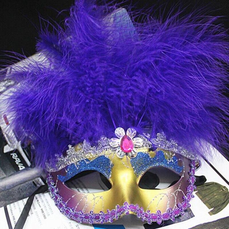 2018 nueva Venecia carnaval máscara PVC pluma partido De gallina ...