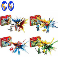 4Pcs Lot Ninjagoes Dragon Building Block KAI JAY COLE ZANE Lloyd WU NYA GARMADON Ninja Toys