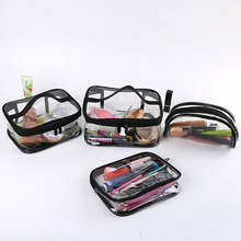 Transparent Cosmetic Bag for Women Square Makeup Storage Waterproof Wash Toiletry Bags Organizer Case