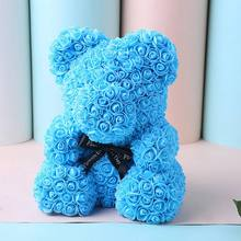 Valentine's Day Gift Plush Bear Rabbit Artificial Flowers Teddy Bear Rose Flower Gifts for Women Gift 25/40/70cm