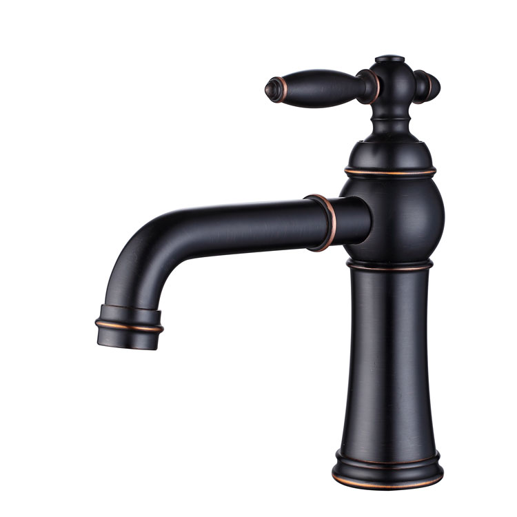 New Design Art Brass Oil Rubbed Bronze ORB Black Bathroom Faucet Lavatory Vessel Sink Basin faucet Mixer Tap Cold Hot Water Tap free shipping fancy brass basin faucet new design tap black orb color bathroom vanity mixer tap deck mount faucet hot cold zr376