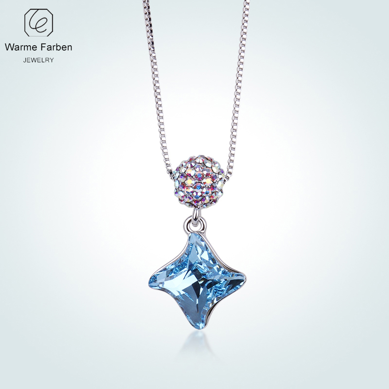 WARME FARBEN Fashion Women Necklace Fine Jewelry Made With Swarovski Crystal  Ball Windmill Pendant Necklace Collares for Girls-in Necklaces from Jewelry  ... b55a4b526faa