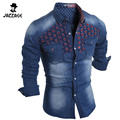 2016 New Fashion Men Jeans Shirt Leisure Slim Fit Casual Brand Denim Shirts Long Sleeve Mens Cowboy Shirt chemise homme SQWW