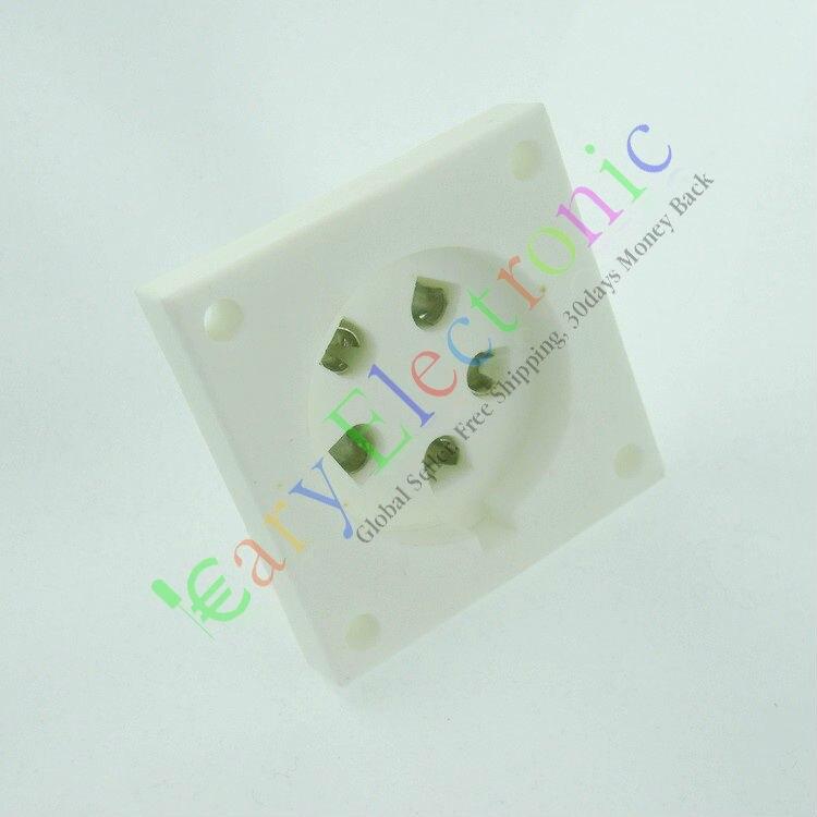 Оптом и в розницу 10 шт. 5 pin керамика Shuguang vaccum AA BA быть cd ce Da враструб база аудио AMP Бесплатная доставка