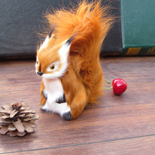 Simulation Squirrel polyethylene&furs Squirrel model funny gift about 12cmx5cmx12cm