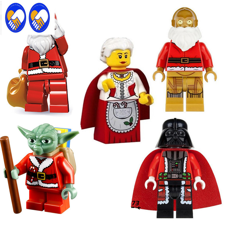 A Toy A Dream 5Pcs/Set Darth Vader Christmas Advent Calendar STAR WARS TMNT  DIY Assemble Building Blocks Kids Xmas Toys Gift 1pc imperial death trooper rogue one 75156 diy figures star wars superheroes assemble building blocks kids diy toys xmas