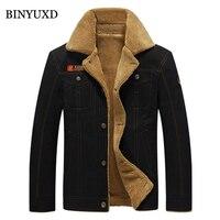 Winter Jacket Men Outwear Slim Bomber Big Size Cotton Coats 2017 New Arrival Outerwear Thick Fur