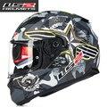 Llegó el nuevo 100% original ff320 LS2 casco de moto con visera interior cara llena del casco de doble visera casco con airbag