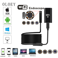 New Arrival 7M WIFI Android Endoscope 8LED 8mm Lens Mini Micro Camera USB HD720P 2MP For