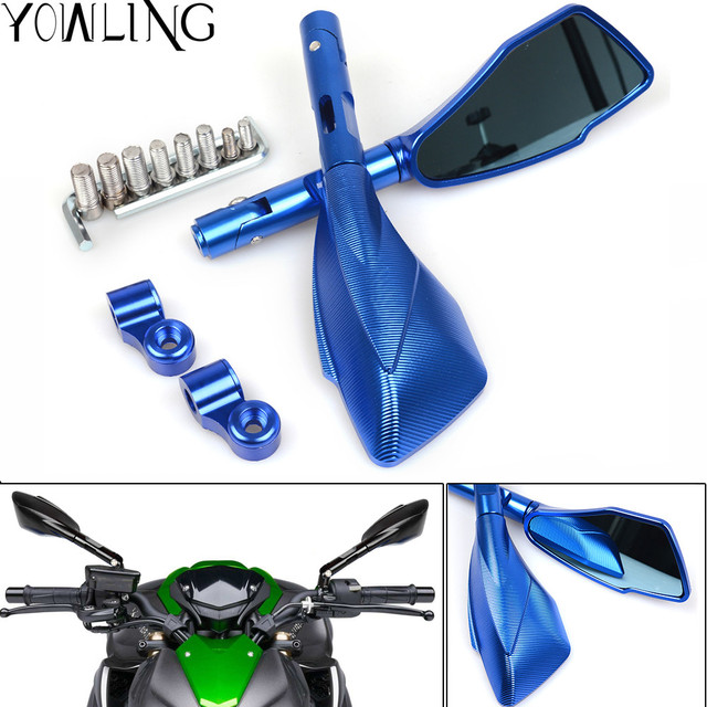 Aluminum CNC motorcycle motorbike rearview Rear Side mirror adapter ...