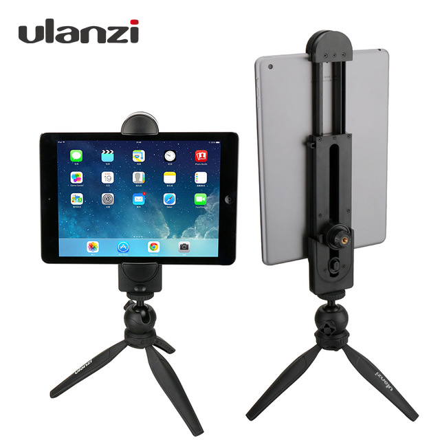 "Ulanzi חצובה מעמד מעמד עבור iPad iPad Pro iPhone X טלפון חכם, Tablet PC, חצובה מתאם מהדק אוניברסלי 1/4 ""בורג"