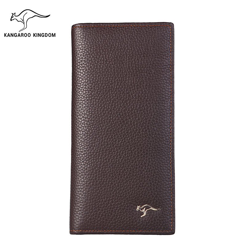 KANGAROO KINGDOM fashion brand men wallets genuine leather long slim bifold wallet male card holder purse wolf head men wallets genuine leather wallet fashion design brand wallet leather man card holder purse page 10