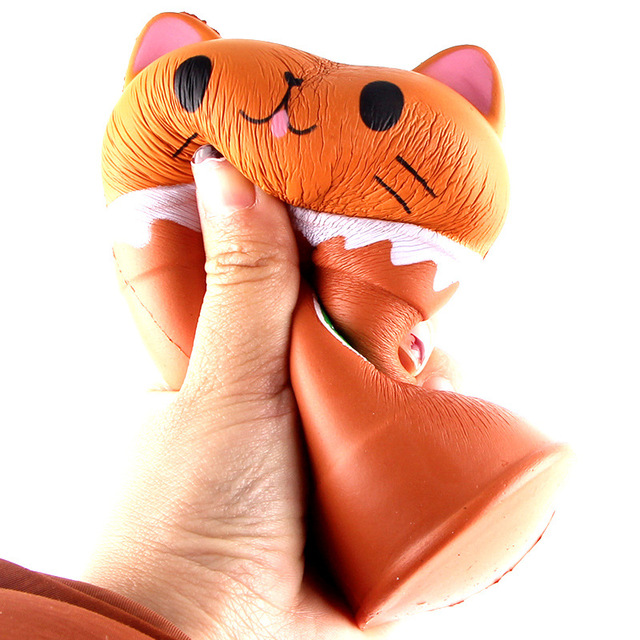 Squish Antistress Kawaii Squishies Slow Rising Jumbo Scented Cappuccino Coffee Cup Cat Funny Toys For Children Boys and Girls
