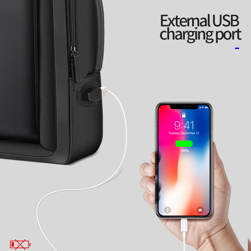 Men Travel Bag Enlarge Anti Theft 16 Inch Laptop Usb External Charge Backpack