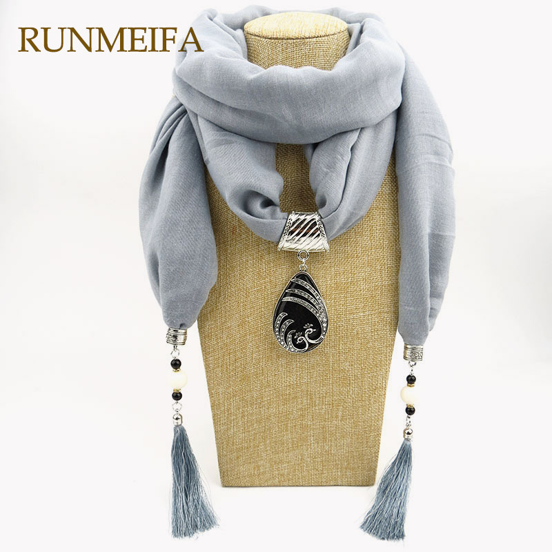 New statement Water Drop pendants necklace Scarf jewelry for ladies luxury designer Polyester Cotton scarfs neckerchief color New statement Water Drop pendants necklace Scarf jewelry for ladies luxury designer Polyester Cotton scarfs neckerchief color
