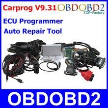 Más nuevo Carprog V9.31 ECU Chip Tuning Programador Prog Del Coche Herramienta de Reparación de Automóviles Airbag Restablecer EEPROM Paquete Completo 21 Adaptadores Cables